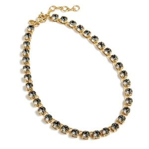NWT J. Crew Swarovski crystal dot necklace